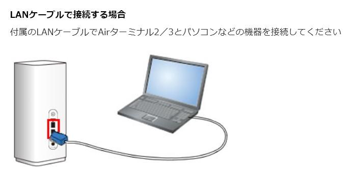 エアー 有線 ソフトバンク